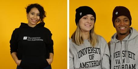 Heren UvA Universiteit van Amsterdam T shirt in blauw – UvA